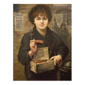 Vendedor del partido postales