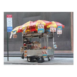 Vendedor del perrito caliente tarjetas postales