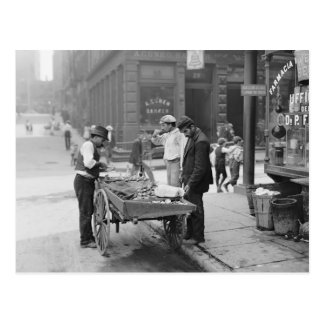 Vendedor en poca Italia 1906 de la almeja Postal