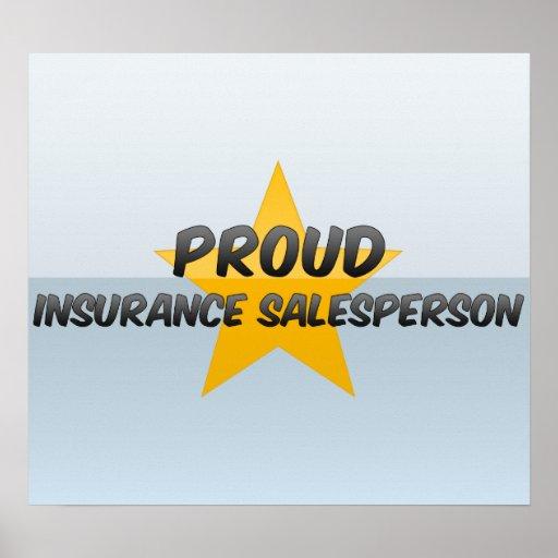 Vendedor orgulloso del seguro posters