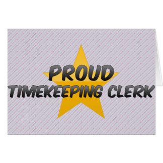 Vendedor orgulloso del Timekeeping Tarjetas