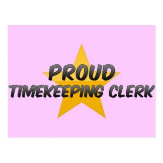 Vendedor orgulloso del Timekeeping Tarjetas Postales