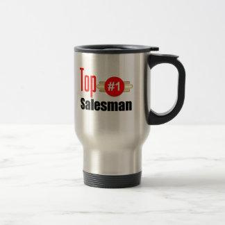 Vendedor superior taza de café