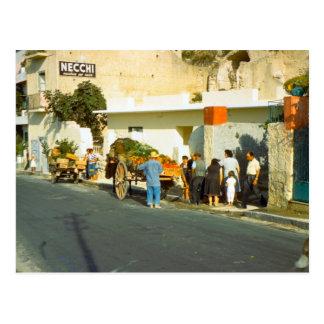 Vendedor vegetal, Salerno Postales
