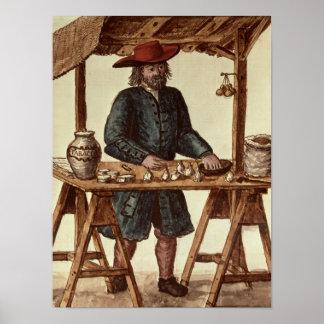 Vendedor veneciano del tabaco póster