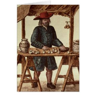 Vendedor veneciano del tabaco tarjeta de felicitación
