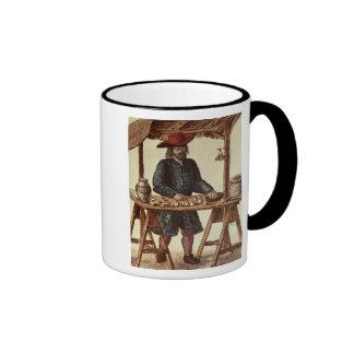 Vendedor veneciano del tabaco tazas de café