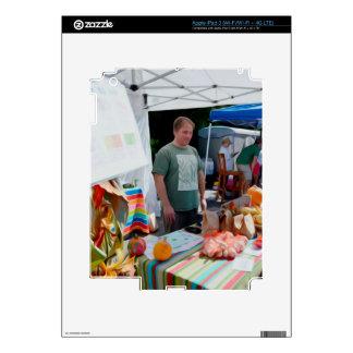 Vendedores 1 del festival del ajo iPad 3 pegatinas skins