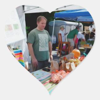 Vendedores 1 del festival del ajo calcomanía de corazón personalizadas