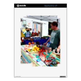 Vendedores 2 del festival del ajo iPad 2 calcomanía