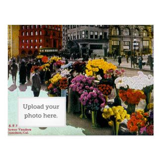 Vendedores de flor postales