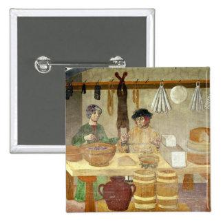 Vendedores de la salchicha y del queso pin