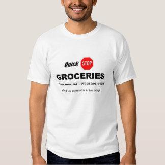 Vendedores - ultramarinos rápidos de la parada camisas