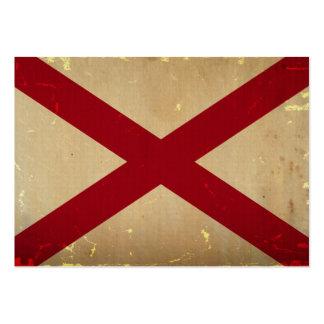 VENDIMIA de la bandera del estado de Alabama Tarjeta Personal