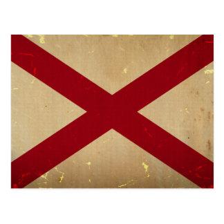 VENDIMIA de la bandera del estado de Alabama Postal