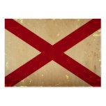 VENDIMIA de la bandera del estado de Alabama Tarjetas De Visita Grandes