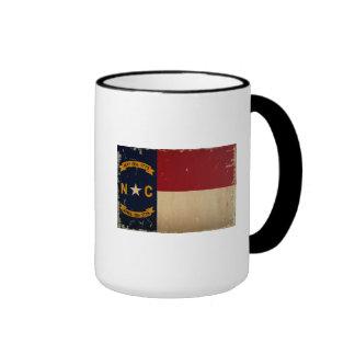 VENDIMIA de la bandera del estado de Carolina del Taza De Dos Colores