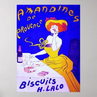 Vendimia del francés del ~ de las galletas de Aman Poster