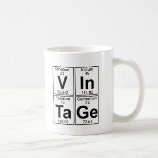 Vendimia (vintage) - por completo taza clásica