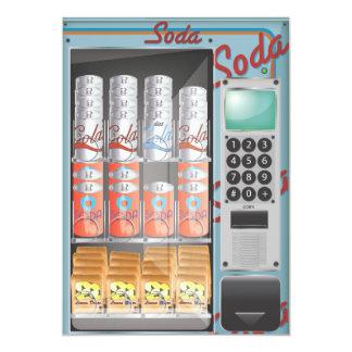 Vending Machine 5x7 Paper Invitation Card