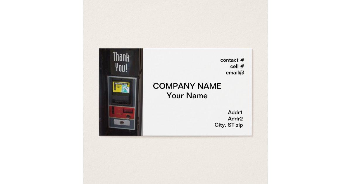 vending machine business card   Zazzle.com
