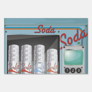 Vending Machine Lawn Sign