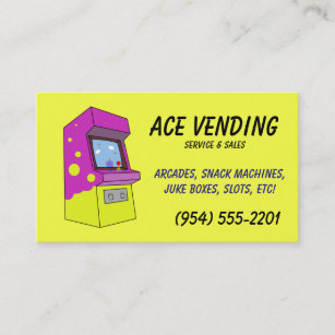 Vending business cards zazzle vending machine service business cards colourmoves
