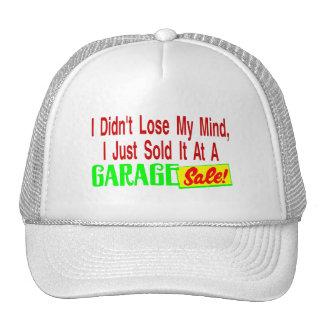 Vendió mi mente en la venta de garaje gorros bordados