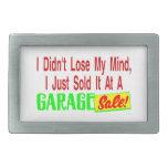 Vendió mi mente en la venta de garaje hebilla cinturon rectangular