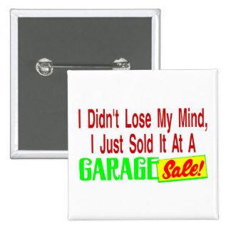 Vendió mi mente en la venta de garaje pin cuadrado