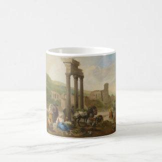 Vendors By Roman Ruins by Hendrik Mommers Coffee Mug