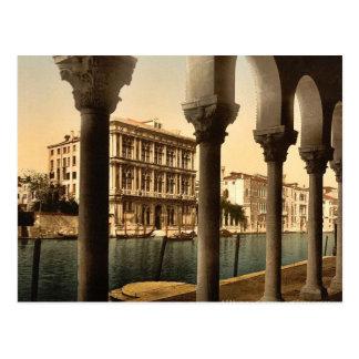 Vendramin Palace, Venice, Italy classic Photochrom Postcard