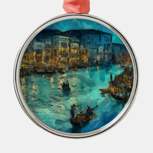 Venecia Canale grande Ornaments Para Arbol De Navidad