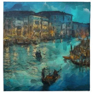 Venecia Canale grande Servilleta Imprimida