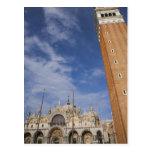 Venecia cuadrada de St Mark de la basílica y del c Postal