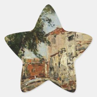 Venecia de Eugene Boudin Pegatina En Forma De Estrella