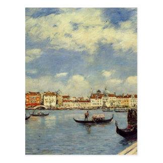 Venecia de Eugene Boudin Tarjeta Postal
