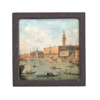 Venecia: El Molo del dux el palacio y de los vagos Caja De Regalo De Calidad