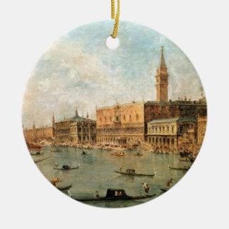 Venecia: El Molo del dux el palacio y de los vagos Adorno Redondo De Cerámica