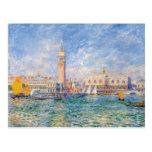 Venecia (el palacio) del dux Pierre-Auguste Renoir Tarjeta Postal