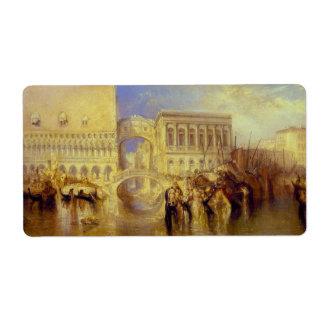Venecia, el puente de suspiros de J.M.W. Turner Etiqueta De Envío