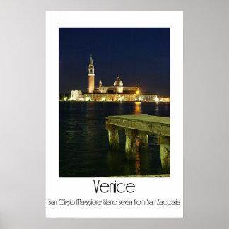 Venecia en la noche - isla de San Girgio Maggiore Posters