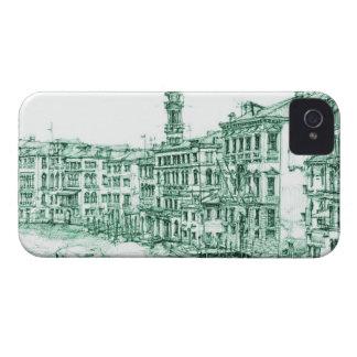 Venecia en tinta verde iPhone 4 coberturas