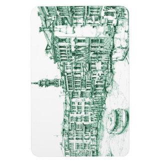 Venecia en tinta verde imanes flexibles
