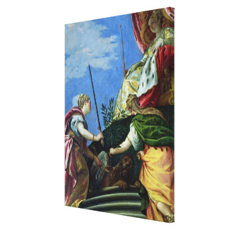 Venecia enthroned entre la justicia y la paz lona estirada galerias