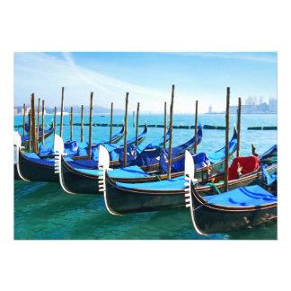 Venecia Gandola con cita del amor Comunicados