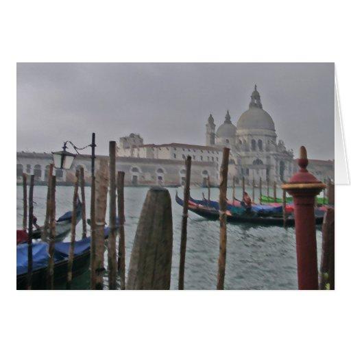 Venecia - góndolas felicitación