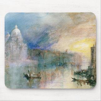 Venecia: Gran Canal con saludo del della de Santa  Alfombrillas De Ratones