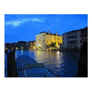 Venecia - Gran Canal en la noche Tarjetas Postales