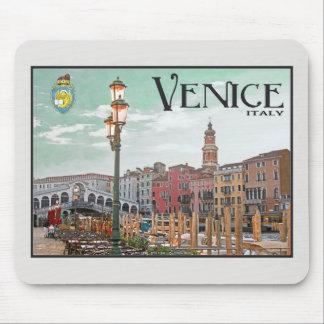 Venecia - Gran Canal y puente de Rialto Mousepad